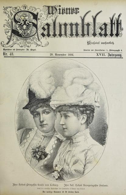 Les princesses Louise et Stéphanie de Belgique faisaient la une d'un magazine viennois en 1886