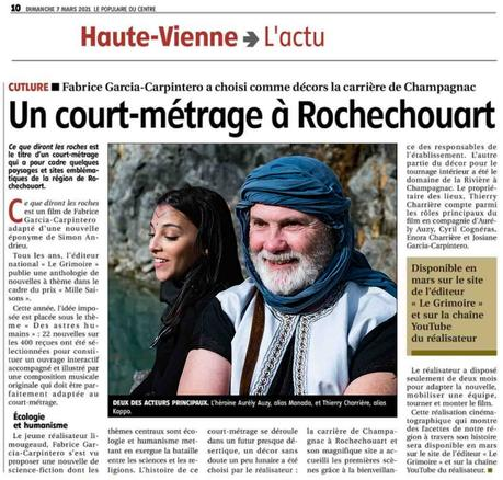 Tournage diront roches