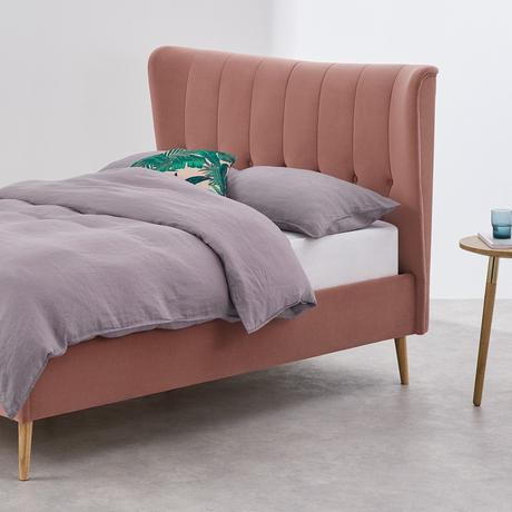 lit double pied bois design scandinave blog déco