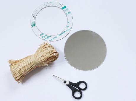 idée création déco personnaliser miroir rond mur
