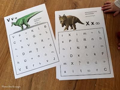 Reconnaître les graphies avec les dinosaures {document à télécharger}