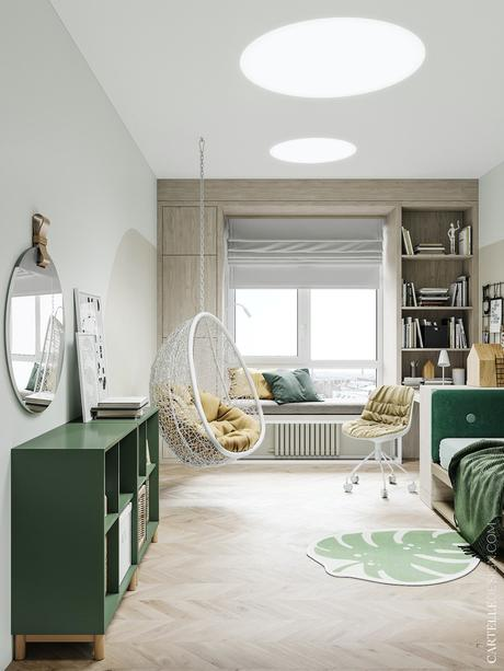 espace cosy chambre adolescente fauteuil suspendu blanc - blog déco - clematc