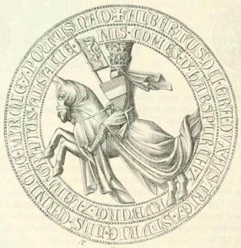 Le sceau du duc Albert II [domaine public]