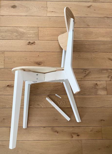 chaise ikea cassée recyclage réparation astuce