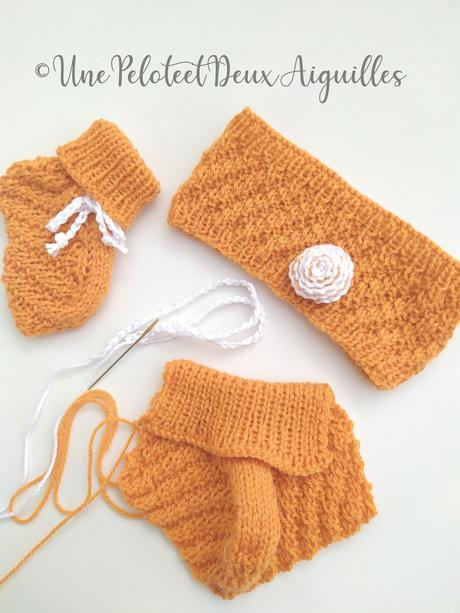 Explications pour tricoter un bandeau bébé (naissance)