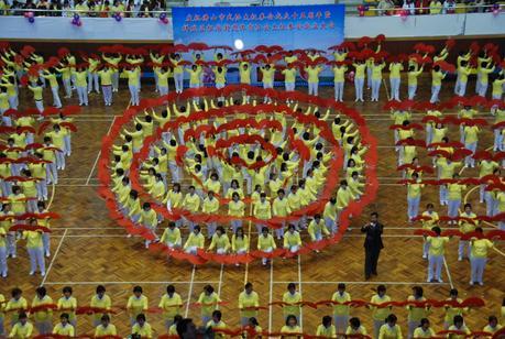 Démonstration d'éventail à Fu Shan (RPC)