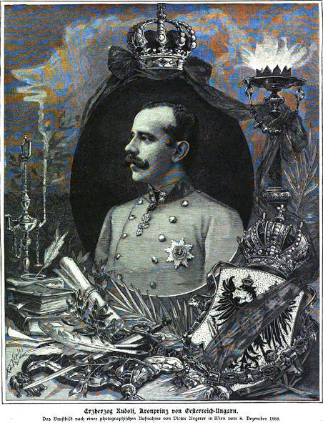 Dessin funèbre à la mémoire de l'archiduc hériter Rodolphe