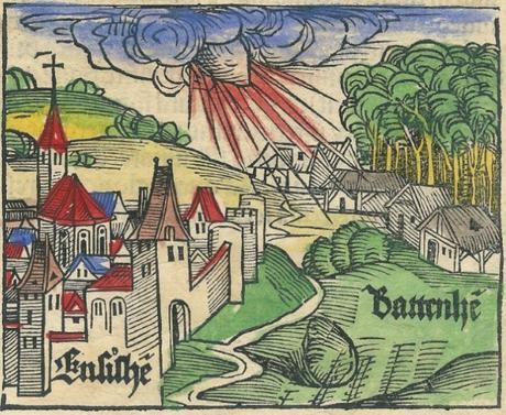La météorite dans le ciel d'Ensisheim
