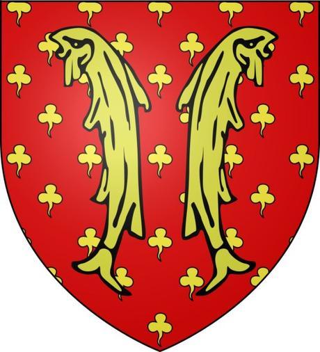 Les deux poissons - Blason du comté de Clermont-en-Beauvaisis © Jimmy44 - licence [CC BY-SA 3.0] from Wikimedia Commons