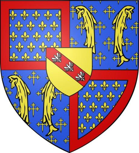 Blason de René d'Anjour © Odejea - licence [CC BY-SA 3.0] from Wikimedia Commons