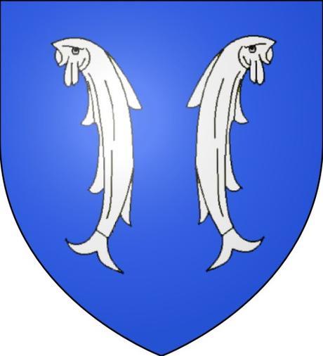 Les deux poissons - Deux Poissons sur le Blason de Montbard par travail personnel - licence [CC BY-SA 3.0] from Wikimedia Commons