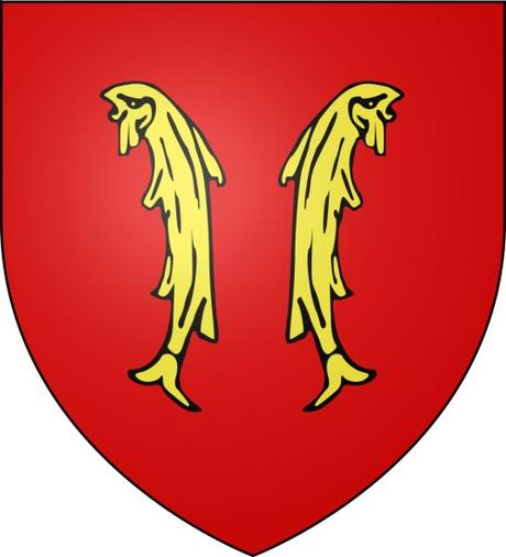 Les deux poissons - Blason du comté de Ferrette © I, Darkbob - licence [CC BY 2.5] from Wikimedia Commons