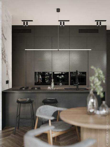 cuisine noire blanche moderne en i minimaliste blog décoration clem around the corner