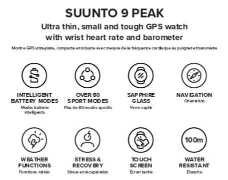 Suunto 9 Peak caractéristiques