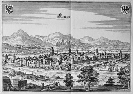 Décapole alsacienne - plan de Landau au 17e siècle