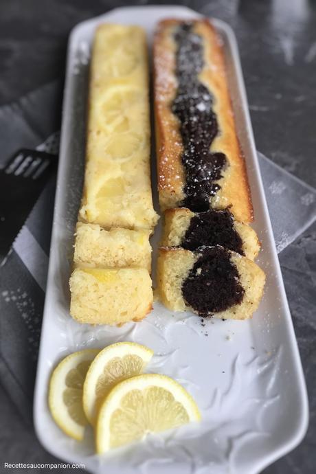 Minis cakes longs 2 en 1 citron et marbré au companion thermomix ou sans robot