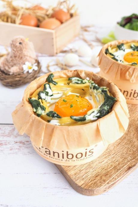 Nids de Pâques œufs cocotte