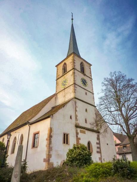 L'église protestante de Mittelbergheim © Chris06 - licence [CC BY-SA 4.0] from Wikimedia Commons