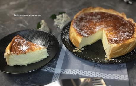 Tarte au fromage blanc à la vanille d'Hervé Cuisine au companion thermomix ou sans robot