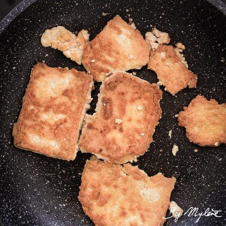 Tofu lactofermenté mariné au tamari grillé