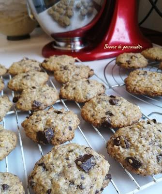 Cookies avoine, amandes et chocolat {sans beurre}