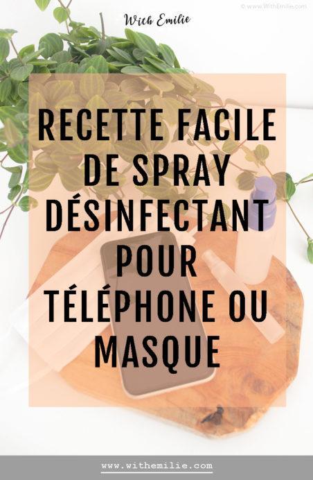 Ma recette de désinfectant de poche : pour smartphone ou masque