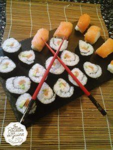Makis avocat saumon et sushi saumon