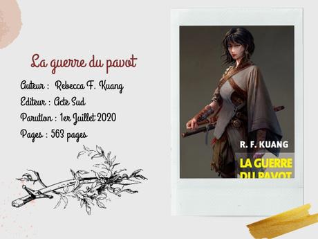 La guerre du pavot - R.F Kuang
