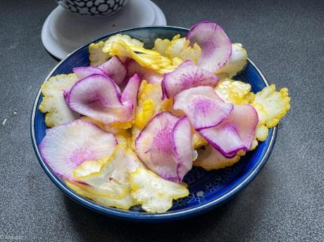 Couleurs complémentaires – Salade de radis violet et de cédrat