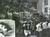 Chapelle ardente dépouille mortuaire l'archiduc Rodolphe.