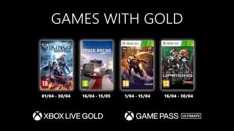 Les Games With Gold d'Avril 2021 dévoilés!