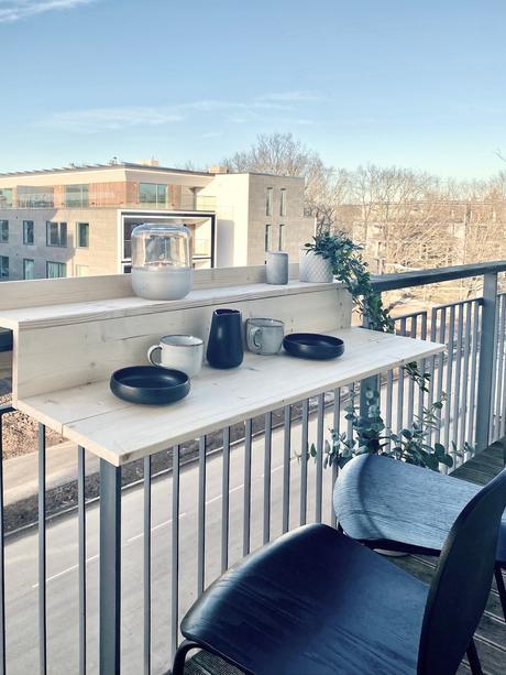 tutoriel bricolage meuble table balcon suspendue étroite
