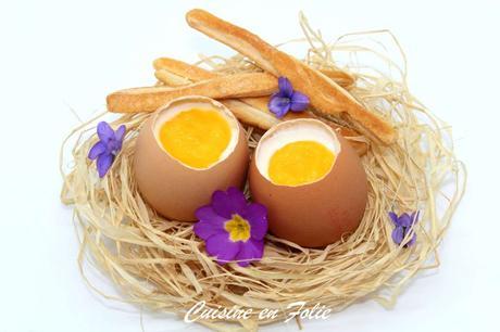 Oeufs de Pâques – Panna cotta coco – mangue