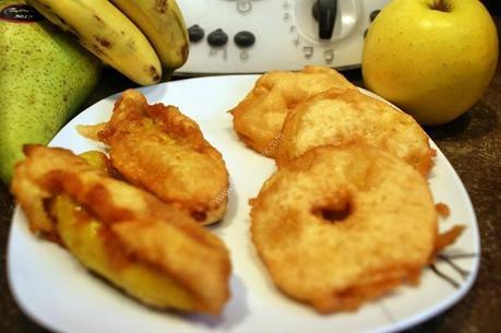 recette du jour: Beignet aux pommes et beignets aux bananes  au thermomix de Vorwerk