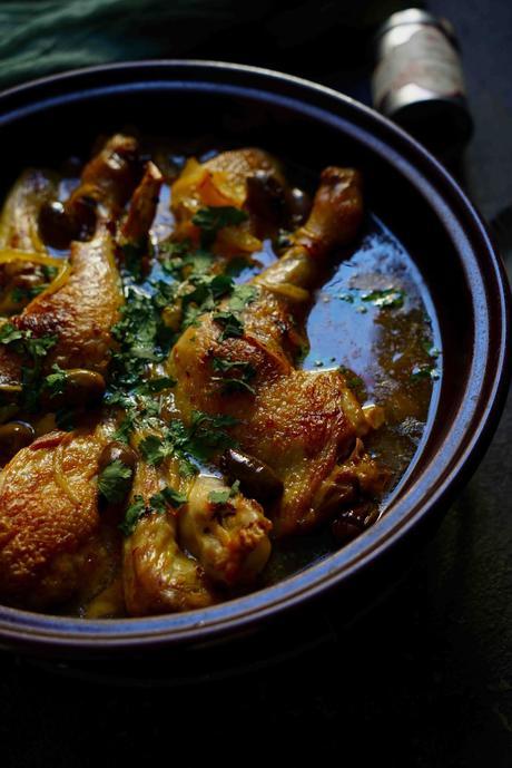 tajine de poulet , plat reconfortant , plat familial