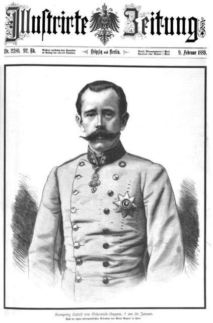 Portrait du défunt Archiduc Rodolphe dans l'Illustrirte Zeitung.