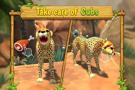 Télécharger Gratuit Cheetah Family Sim - Animal Simulator APK MOD (Astuce) screenshots 4
