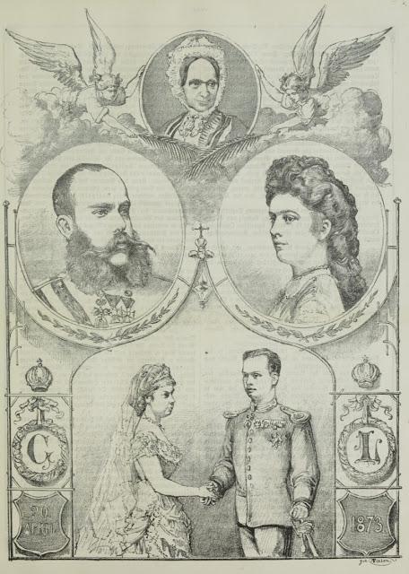Le mariage de Gisèle de Habsbourg-Lorraine avec Léopold de Bavière — Un dessin du Wiener Salonblatt
