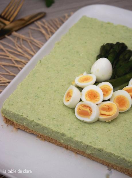 Cheesecake aux asperges vertes