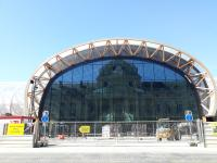 Grand Palais éphémère en construction face à l'Ecole Militaire