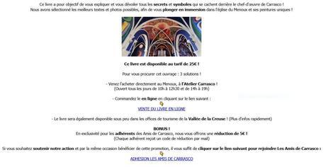 Un livre attendu : Les peintures murales de Carrasco – Le Menoux (Indre)