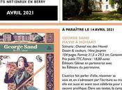 Région Centre sortie Avril 2021 roman graphique Georges Sand Nohant