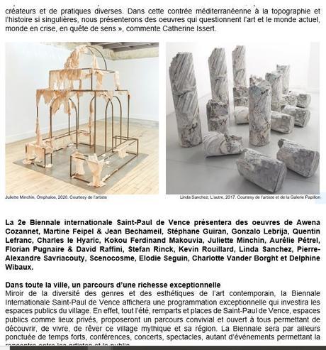B I S 2e édition de la Biennale de Saint-Paul de Vence 26 Juin au 2 Octobre 2021