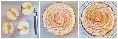 Tarte aux pommes en rose