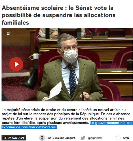 la sénatrice @jacky_deromedi #LR confirme au micro de @GMeurice que la loi séparatisme est non seulement raciste, mais également pauvrophobe !