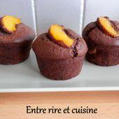 Petits gâteaux pêches - cacao