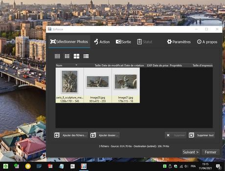 XnResize - redimensionnement rapide d'images