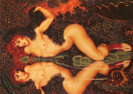 1922 Autoportrait en Narcisse
