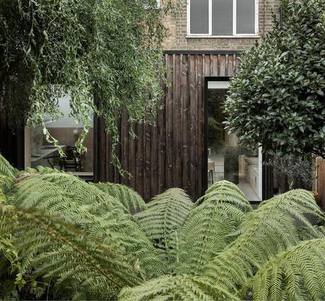 jardin tropical cour intérieure appartement deux pièces à Londres