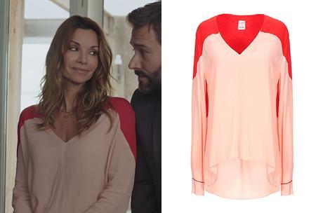 DEMAIN NOUS APPARTIENT : la blouse rose et rouge de Chloé dans l'épisode 902